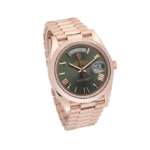 Rolex Day Date Green Dial Rosegold-Side