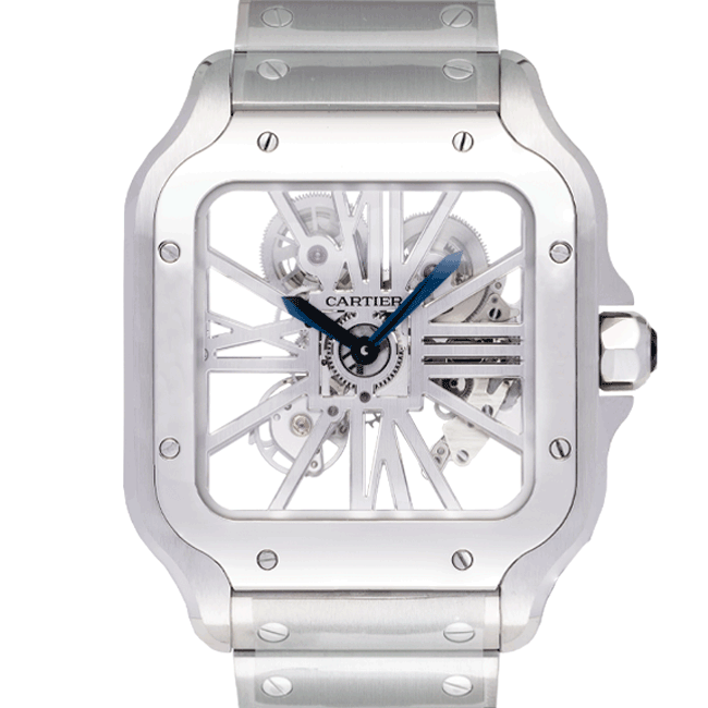 Cartier White Dial Color Watch Front View 2