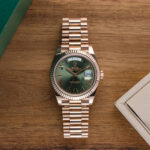 Rolex Day Date Green Dial Rosegold-lifestyle