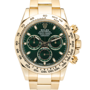 Rolex Oyster Perpetual Cosmograph Daytona Green Dial Color Watch Front View