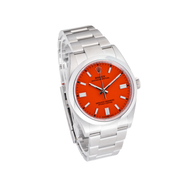 Oyster-Perpetual-126000-Coral-Side