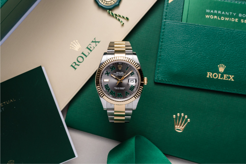 Rolex Datejust Wimbledon comes in different sizes.