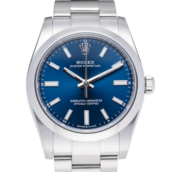 Rolex Oyster Perpetual Blue-Face2