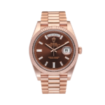 Rolex Day-Date 228235 Chocolate Baguette Dial-full