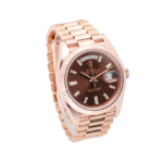 Rolex Day-Date 228235 Chocolate Baguette Dial-side