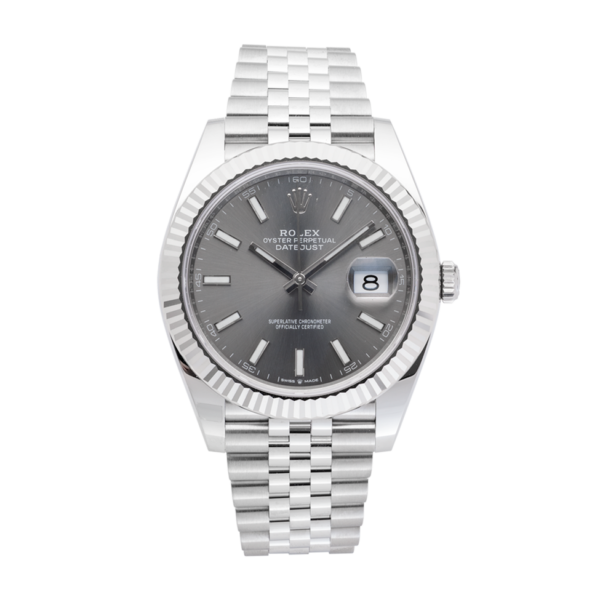 Rolex Datejust Fluted Silver-Full