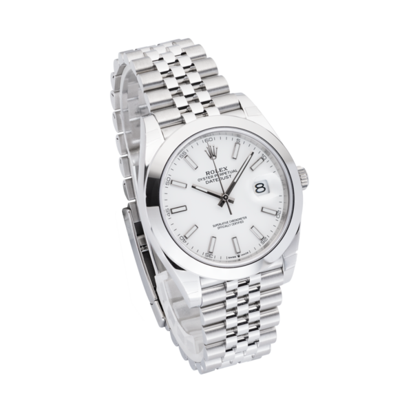 Datejust 126300 White Dial-Side