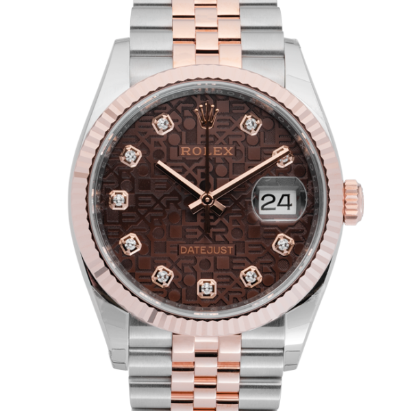Rolex Datejust Chocolate Anniversary Dial 126231-Face