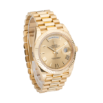 Rolex Day-Date 228238 Champagne Roman Dial-Side