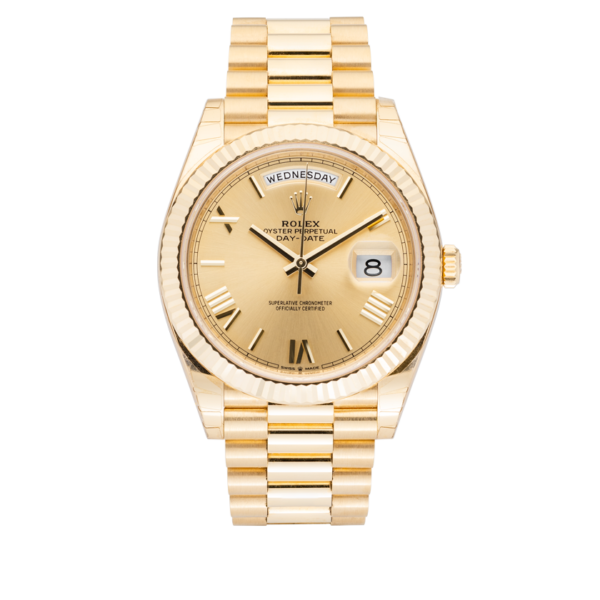 Rolex Day-Date 228238 Champagne Roman Dial-Full